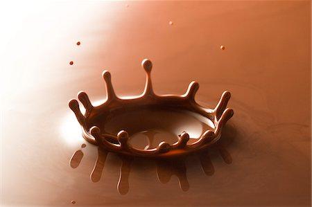 Splashing Chocolate Stock Photo - Premium Royalty-Free, Code: 622-06010024