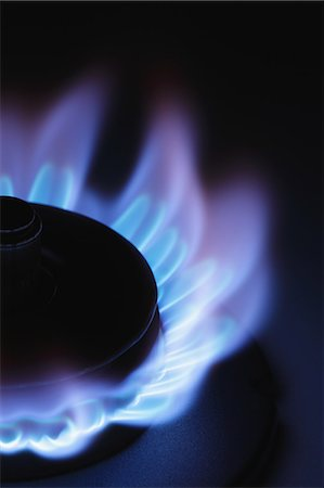 flame - Lit Stove Flame Stock Photo - Premium Royalty-Free, Code: 622-06163813