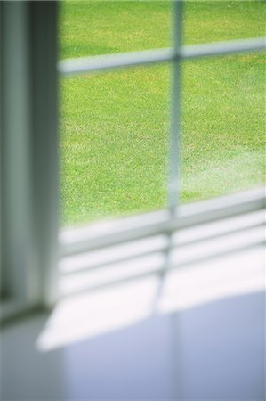 focus on background - Lawn Through Window Stock Photo - Premium Royalty-Free, Code: 622-06163942