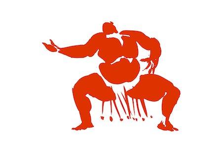 fat man exercising - Muscular Man Practicing, Illustration Stock Photo - Premium Royalty-Free, Code: 622-06190885