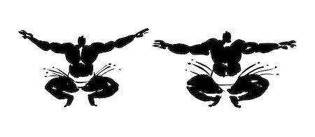 fat man exercising - Sumo Wrestlers Doing Exercise Stock Photo - Premium Royalty-Free, Code: 622-06190883