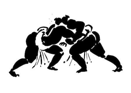 fat man exercising - Wrestlers Fighting Stock Photo - Premium Royalty-Free, Code: 622-06190890