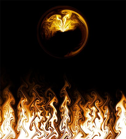 fire - Fire Flames, Digital Generated Stock Photo - Premium Royalty-Free, Code: 622-06190921