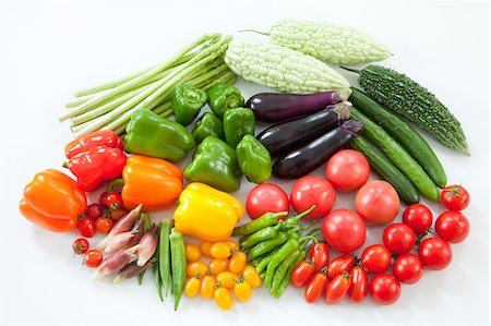 paprika - Group of summer vegetables Stock Photo - Premium Royalty-Free, Code: 622-06369928
