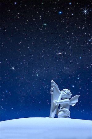 fantastically - Angel statue and stars Stock Photo - Premium Royalty-Free, Code: 622-06398376