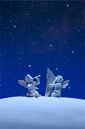 Two angels and stars Stock Photo - Premium Royalty-Free, Code: 622-06398377