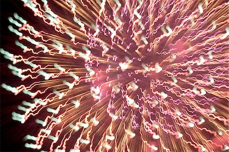 pink and purple fireworks - Fireworks Stock Photo - Premium Royalty-Free, Code: 622-06487544