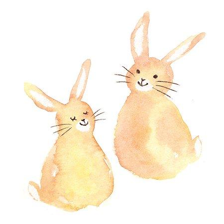 Rabbits illustration Stock Photo - Premium Royalty-Free, Code: 622-06487855