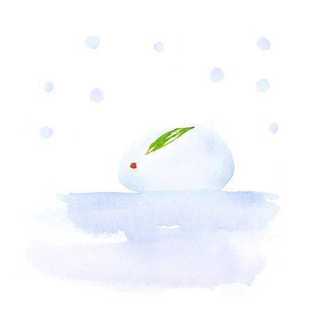 Snow rabbit illustration Stock Photo - Premium Royalty-Free, Code: 622-06487860