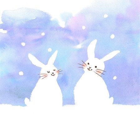 Rabbits illustration Stock Photo - Premium Royalty-Free, Code: 622-06487861
