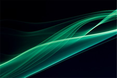 flowing - Green smoke on black background Stock Photo - Premium Royalty-Free, Code: 622-06548880