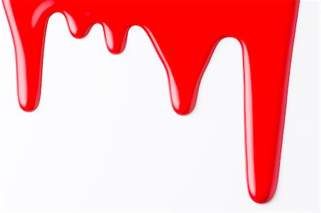 paint drips - Red liquid Stock Photo - Premium Royalty-Free, Code: 622-06809285