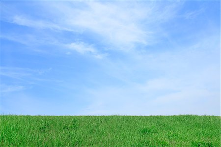 Grassland and sky with clouds Stock Photo - Premium Royalty-Free, Code: 622-06842533