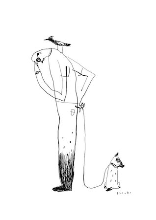 Man and dog illustration Stock Photo - Premium Royalty-Free, Code: 622-06900124