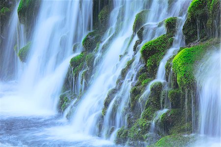 flowing - Moto Waterfall, Akita Prefecture Stock Photo - Premium Royalty-Free, Code: 622-06900625