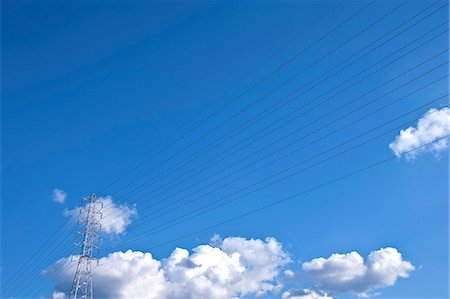 Transmission lines and sky Stock Photo - Premium Royalty-Free, Code: 622-06900658