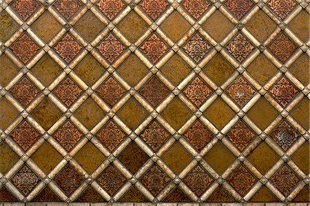 Ceramic tiles pattern Stock Photo - Premium Royalty-Free, Code: 622-06900718