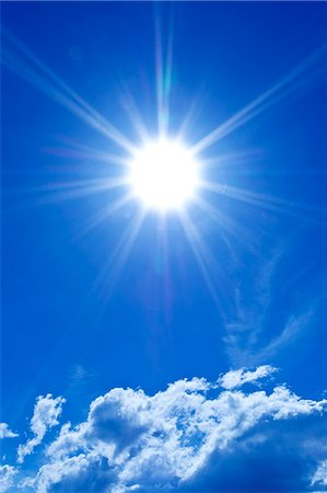 sun - Sun and sky with clouds Stock Photo - Premium Royalty-Free, Code: 622-07118107