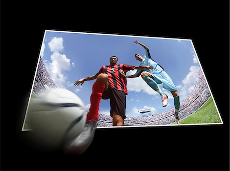 footballeur - Football players running with ball Stock Photo - Premium Royalty-Free, Code: 622-07736014