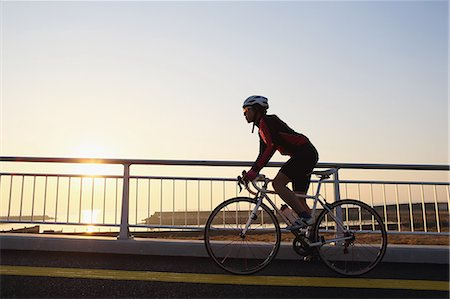dyed - Young Japanese girl cycling Stock Photo - Premium Royalty-Free, Code: 622-07760681