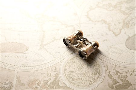 Antique Binoculars Stock Photo - Premium Royalty-Free, Code: 622-07840970