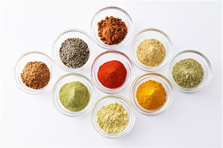 set - Assorted spices Stock Photo - Premium Royalty-Free, Code: 622-08007183
