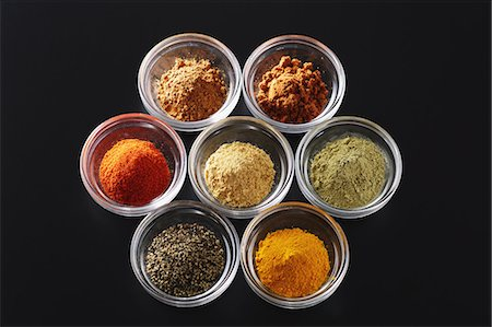 set - Assorted spices Stock Photo - Premium Royalty-Free, Code: 622-08007195