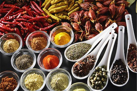 Assorted spices Stock Photo - Premium Royalty-Free, Code: 622-08007214