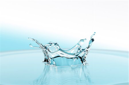 Water crown Stock Photo - Premium Royalty-Free, Code: 622-08065167
