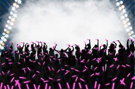 Audience enjoying live concert Stock Photo - Premium Royalty-Free, Code: 622-08122829