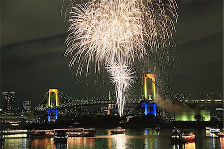 fireworks colored picture - Fireworks in Odaiba bay, Tokyo, Japan Stock Photo - Premium Royalty-Free, Code: 622-08122838