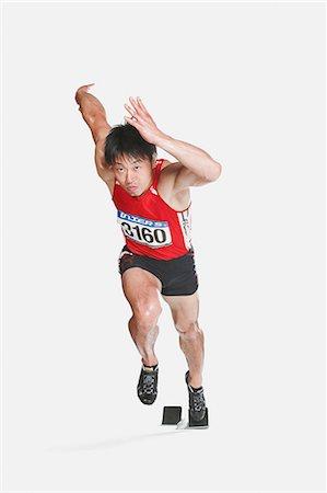 silhouette hand - Japanese male athlete Stock Photo - Premium Royalty-Free, Code: 622-08355734