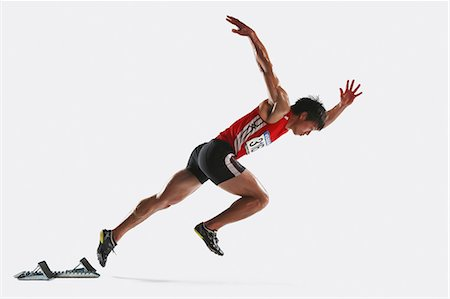 silhouette hand - Japanese male athlete Stock Photo - Premium Royalty-Free, Code: 622-08355730