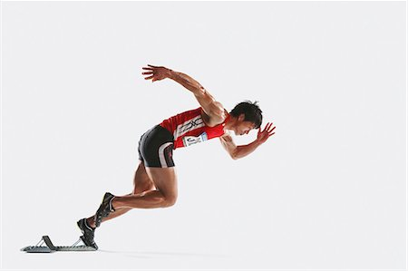 silhouette hand - Japanese male athlete Stock Photo - Premium Royalty-Free, Code: 622-08355732