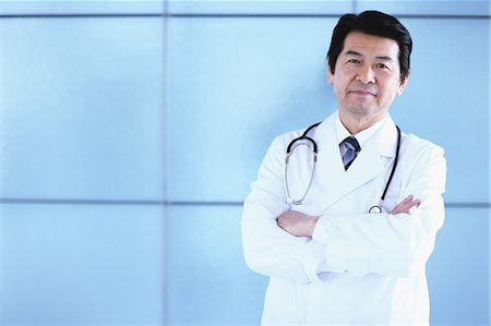 Japanese senior doctor at the hospital Stock Photo - Premium Royalty-Free, Code: 622-08482445