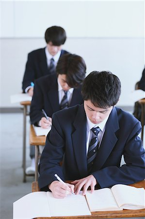 Japanese high-school students during a lesson Stock Photo - Premium Royalty-Free, Code: 622-08542931