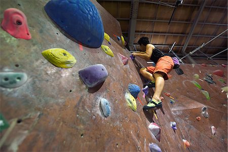 sports - Japanese bouldering athlete in action Stock Photo - Premium Royalty-Free, Code: 622-08657604