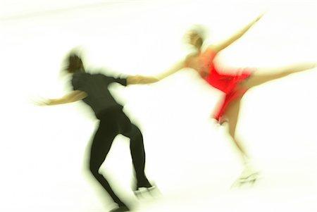Ice Skating Couple Stock Photo - Premium Royalty-Free, Code: 622-02621545