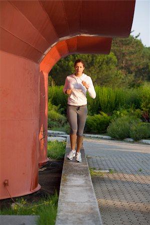 Teenage Jogger Stock Photo - Premium Royalty-Free, Code: 622-02621578