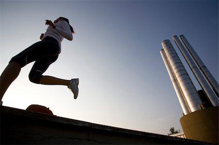 Teenage Jogger Stock Photo - Premium Royalty-Free, Code: 622-02621579