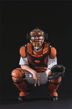 professional baseball game - Baseball catcher catching ball Stock Photo - Premium Royalty-Free, Code: 622-02621700