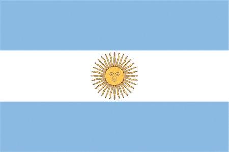 Argentina National Flag Stock Photo - Premium Royalty-Free, Code: 622-03446231