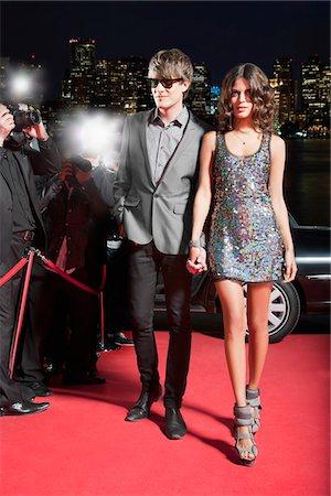 Celebrity walking on red carpet Stock Photo - Premium Royalty-Free, Code: 635-05550047