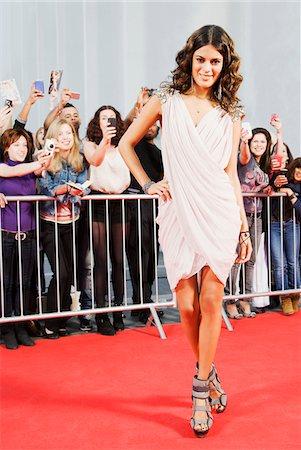 Celebrity posing on red carpet Stock Photo - Premium Royalty-Free, Code: 635-05550063