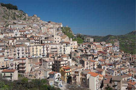 european hillside town - City of old buildings on hillside Stock Photo - Premium Royalty-Free, Code: 635-05550441