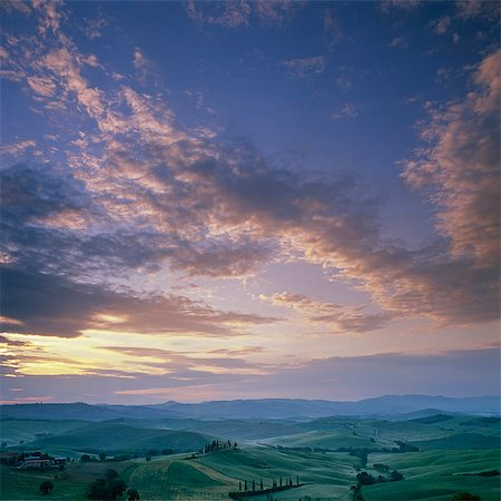 Dramatic sky over rural landscape Stock Photo - Premium Royalty-Free, Code: 635-05550458