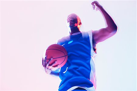 practise - Basketball player cheering Stock Photo - Premium Royalty-Free, Code: 635-05550566