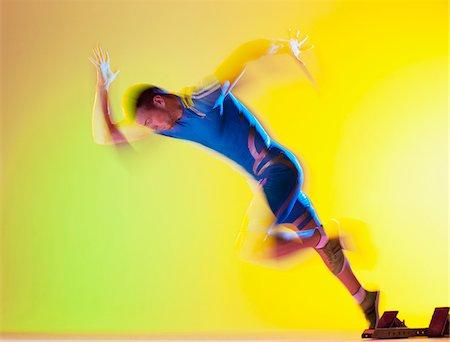 runner (male) - Blurred view of athlete running Stock Photo - Premium Royalty-Free, Code: 635-05550615