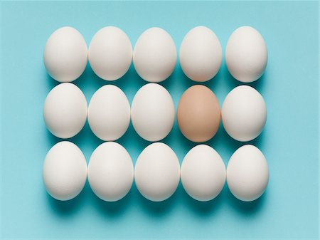 different - Brown egg with large white eggs Stock Photo - Premium Royalty-Free, Code: 635-05550674