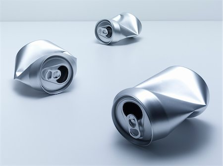 Crumpled soda cans Stock Photo - Premium Royalty-Free, Code: 635-05551085